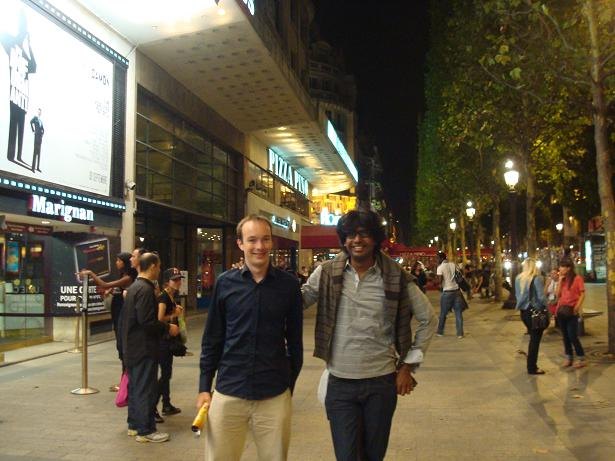 Benoît & I, at Champs Élysées, Paris, France (8th Sept 2009)