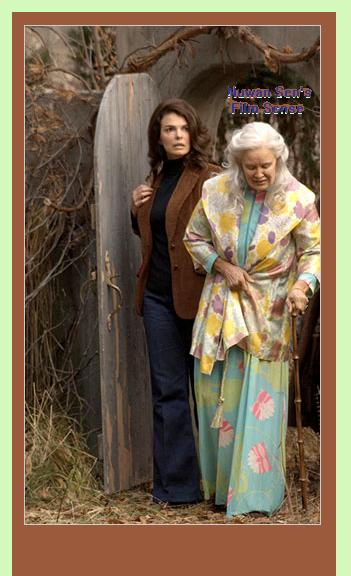 Jeanne Tripplehorn as Jacqueline Kennedy Onassis and Jessica Lange as Big Edie, in a scene from, Grey Gardens (2009)
