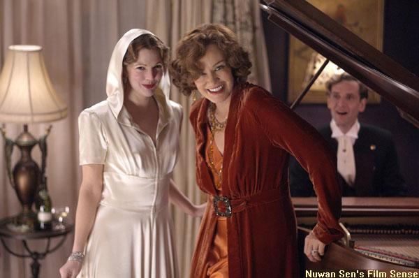 Drew Barrymore (as the daughter, Little Edie) and Jessica Lange (as the mother, Big Edie) in a scene from Grey Gardens (2009)