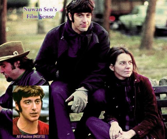 Al Pacino & Kitty Winn (Al Pacino - inset as well) in a scene from Panic in Needle Park (1971)