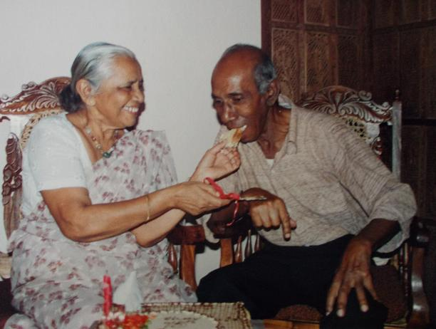 Attammi celebrates her 75th Birthday, with the love of her life, Atta (January 1997)