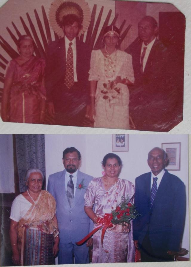 Atta & Attammi, with My Parents :- Top: On my Parents wedding day (10th December 1973)  Below: On my Parents 25th Wedding Anniversary (December 1998)