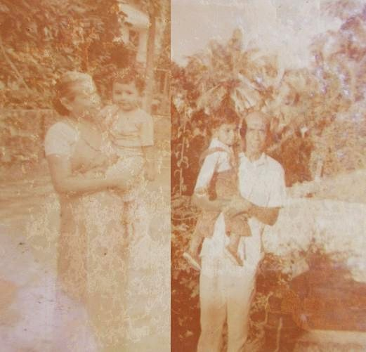 Little ME: With my maternal Grandparents on my first Trip to Sri Lanka in 1976 (Me aged One)
