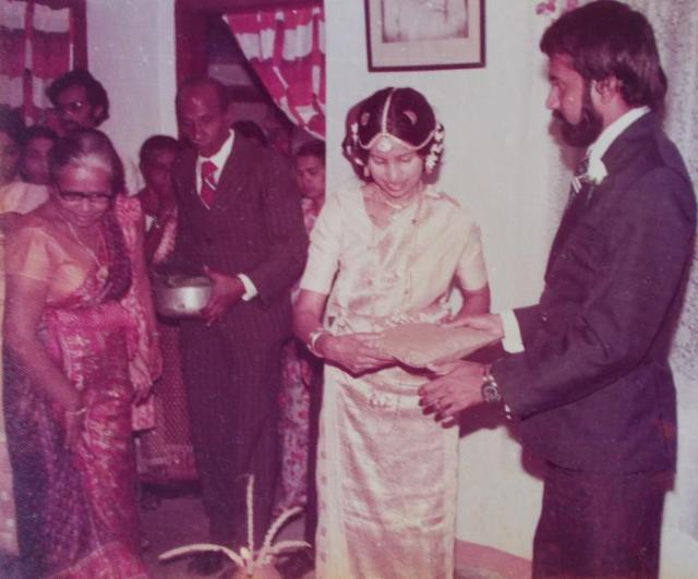 Atta & Attammi at their second child/daughter's wedding (22nd January 1980), in Kegalle.
