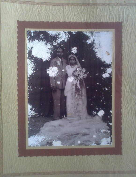 Atta & Attammi on their wedding day.  (10th  July 1947)