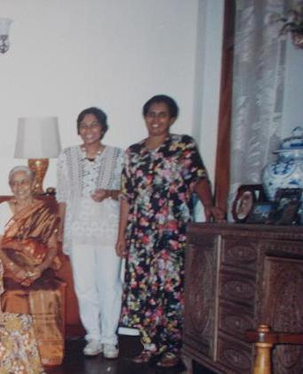 (L to R) My Grandmother, my aunt (my father's youngest brother's wife), and Mom (@ Mom's home - 56, Siripura), at my 21st Birthday Party (22nd June 1996). That was the last birthday I celebrated with a party.