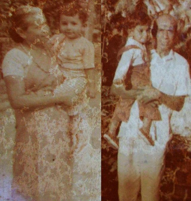 Atta & Attammi, with their first grandchild (Me aged one), on my first trip to Sri Lanka (1976).