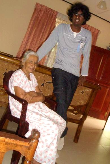 Attammi with her eldest Grandchild (Me aged 33) at my Aunt's (October 2008)