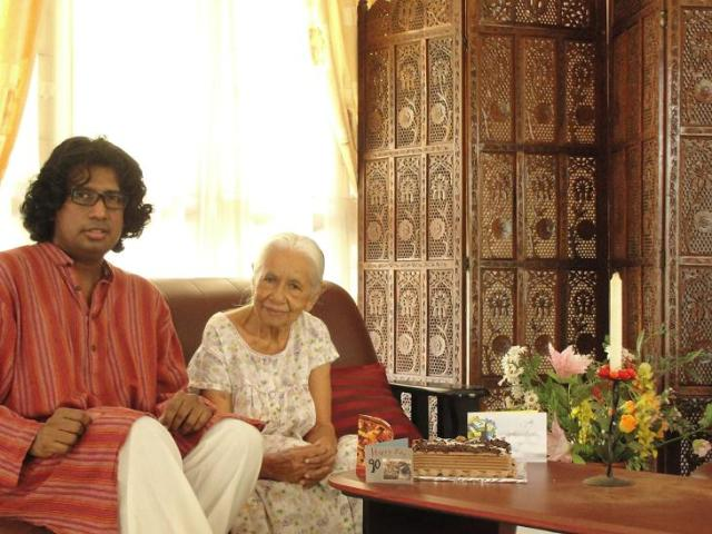 Attammi & I On Attammi's 90th Birthday (18 Jan 2012)
