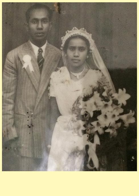 My (maternal) Grandparents, on their wedding day (10th JULY 1947)
