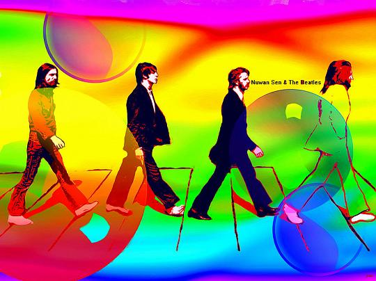 The Beatles painting by Daniel Janda
