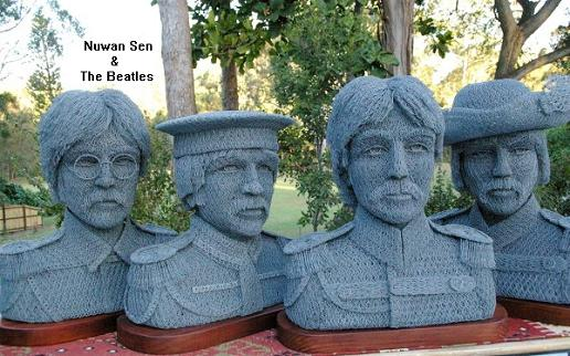 The Beatles - Poultry chicken wire by Ivan Lovatt