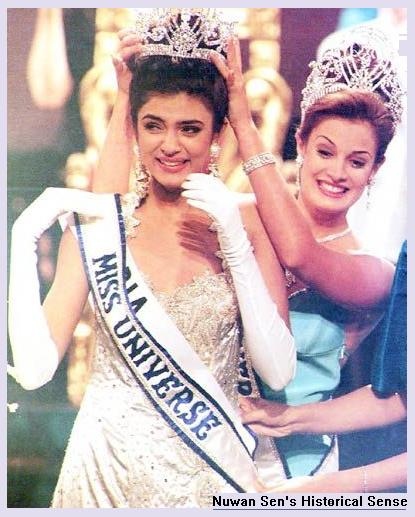 Miss India, Sushmita Sen, being crowned Miss Universe, in May 1994 !!