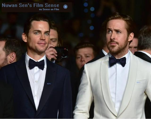 Yesterday evening: Matt Bomer & Ryan Gosling, at the Cannes Film Festival